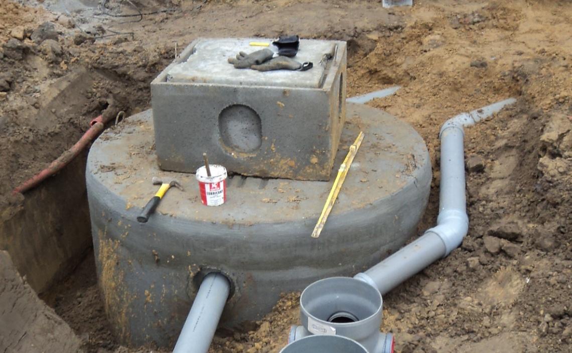 Rioleringswerken: plaatsen regenwaterputten
